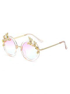 Butterfly Oval Mirrored Sunglasses - Clear White