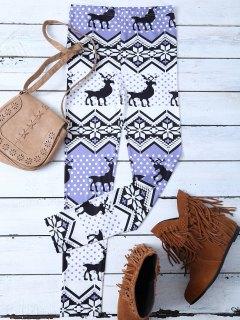 Snowflake Reindeer Leggings - M