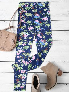 Tiny Floral Pattern Leggings - Floral M