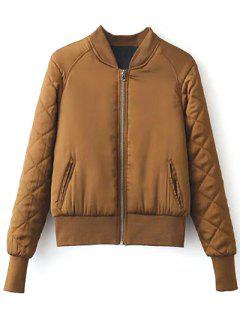 Stand Neck Quilted Jacket - Ginger L