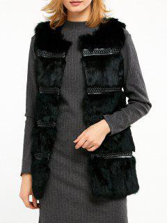Rabbit Hair Waistcoat - Black