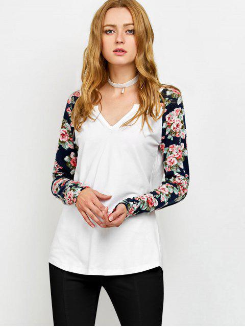 Tee-shirt à manches courtes à coupe basse - Blanc M Mobile