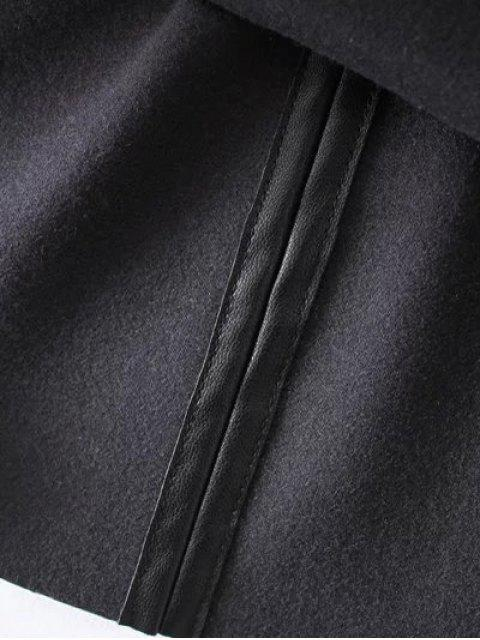 fashion PU Leather Cami Mini Dress - BLACK S Mobile