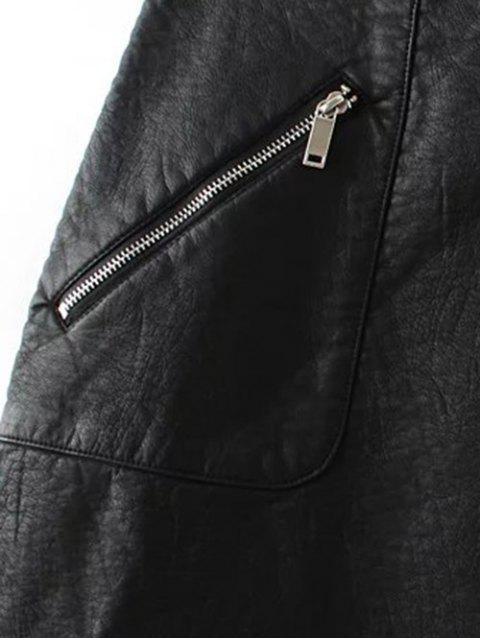 unique PU Leather Pencil Skirt - BLACK L Mobile
