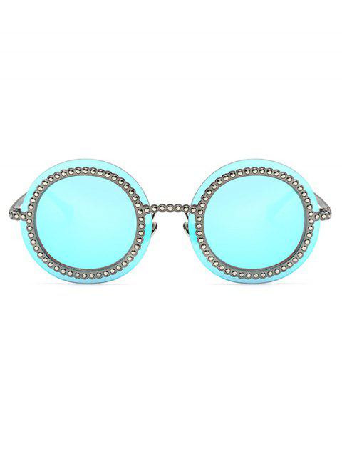 outfit Rivet Gear Shape Round Mirrored Sunglasses -   Mobile