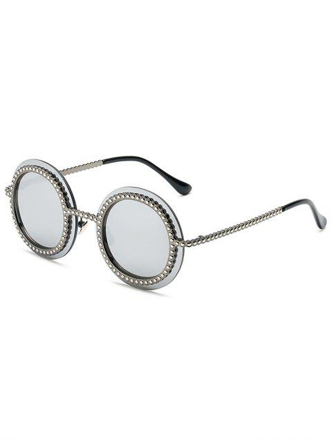 outfits Rivet Gear Shape Round Mirrored Sunglasses -   Mobile