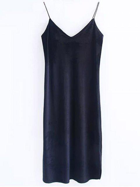 lady Cami Velvet Midi Dress - BLACK M Mobile