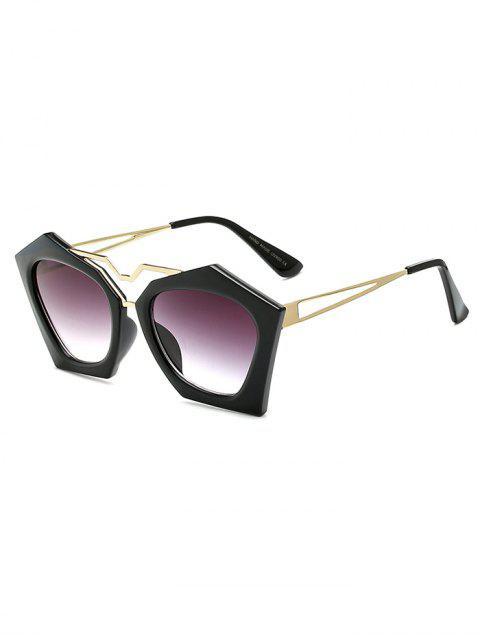 unique Hollow Out Leg Irregular Sunglasses -   Mobile