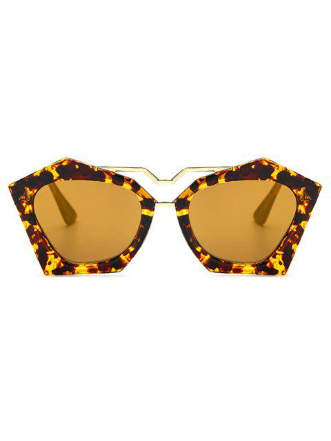 affordable Irregular Mirrored Leopard Sunglasses - GOLDEN  Mobile