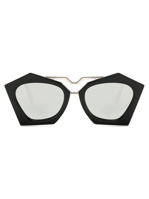 womens Irregular Mirrored Sunglasses - SILVER  Mobile