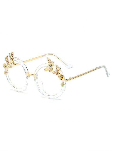 lady Butterfly Transparent Lens Oval Sunglasses - TRANSPARENT  Mobile