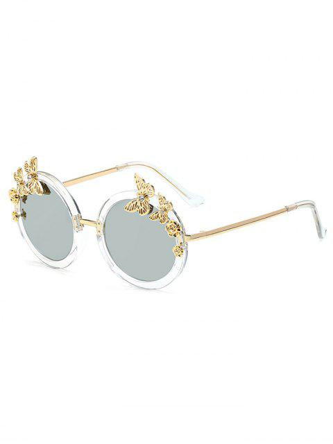 outfit Butterfly Oval Mirrored Sunglasses - SILVER  Mobile