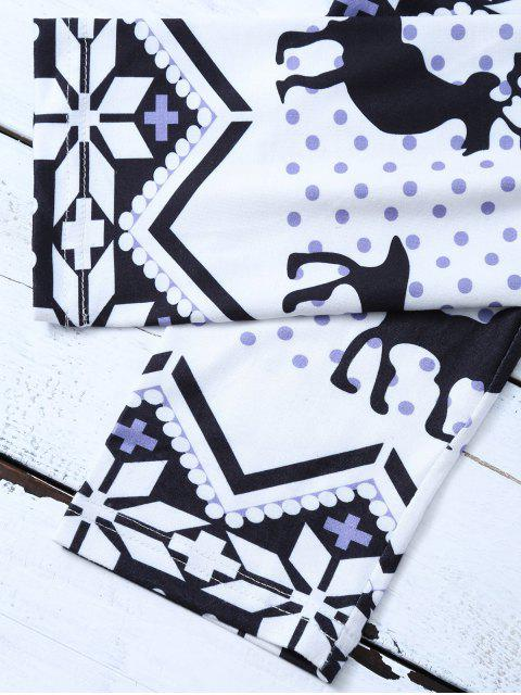 outfit Snowflake Reindeer Leggings - COLORMIX L Mobile