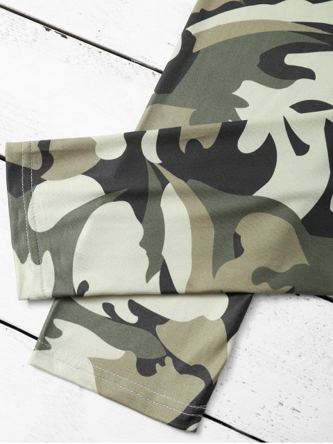 best Camouflage Skinny Leggings - CAMOUFLAGE COLOR XL Mobile