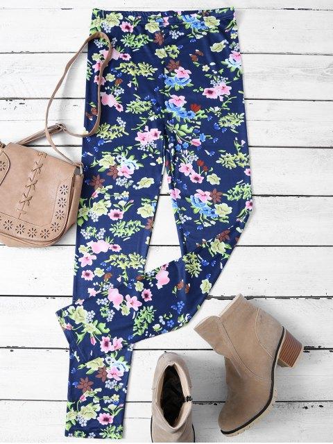 Leggings minces imprimés à motif floral - Floral M Mobile