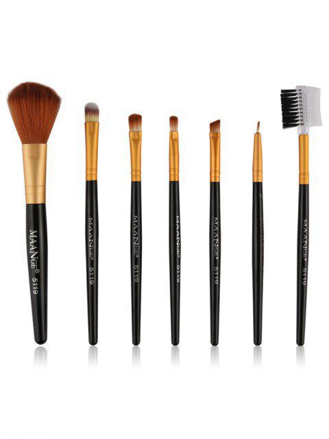fancy 7 Pcs Makeup Brushes Set -   Mobile