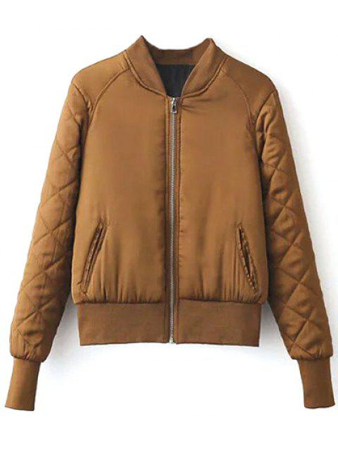 shop Stand Neck Quilted Jacket - GINGER M Mobile