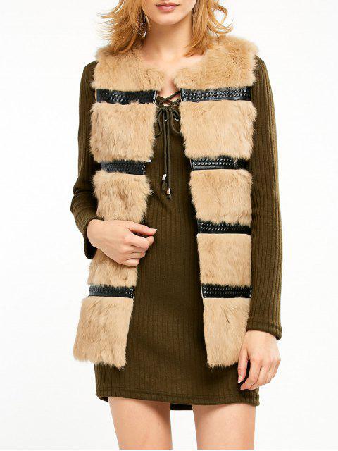 shop Rabbit Hair Waistcoat - CAMEL ONE SIZE Mobile