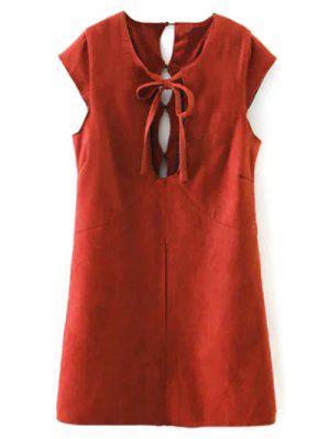Mini-robe  En Suède Artificiel  - Rouge M