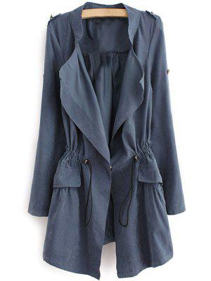 Epaulet Drawstring Coat