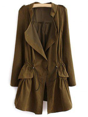 Epaulet Drawstring Coat