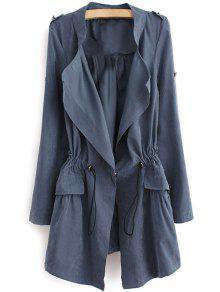 إبوليت الرباط الرباط معطف - ازرق رمادي Xl
