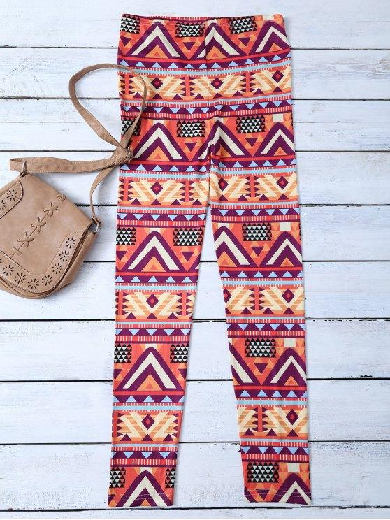 pantalons collants à  motifs géométriques - Multicolore L