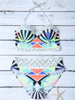 Ethnic Style Geometric Bikini Set - S