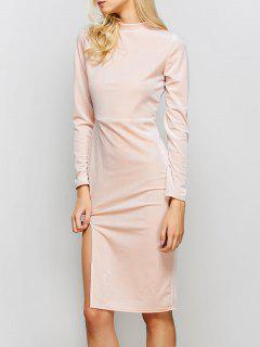 Terciopelo De La Vendimia Vestido De Corte - Rosa M