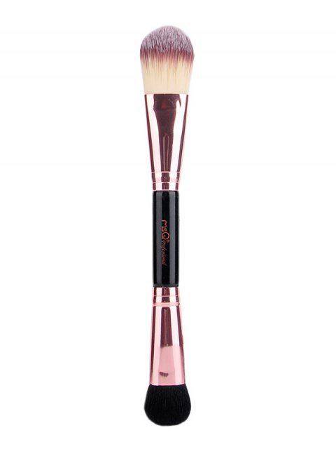 shop Double End Eyeshadow Brush Foundation Brush - ROSE GOLD  Mobile