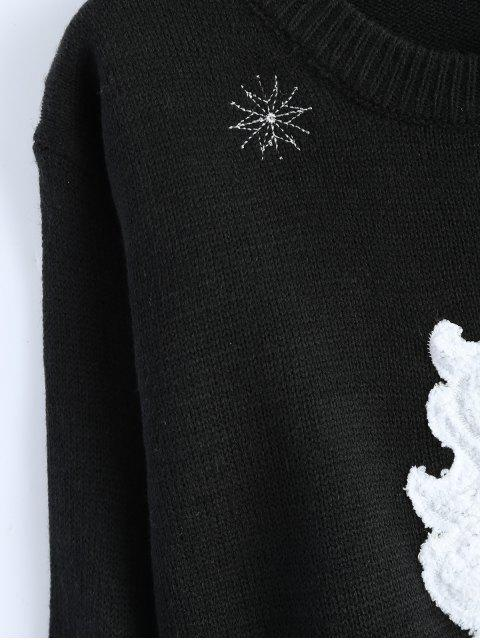 affordable Santa Clause Christmas Sweater - BLACK ONE SIZE Mobile
