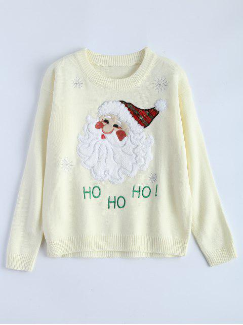 buy Santa Clause Christmas Sweater - OFF-WHITE ONE SIZE Mobile