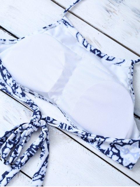 shops Halter Criss Cross Print Bikini Set - COLORMIX M Mobile