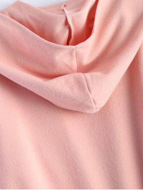 sale Cotton Open Front Coat - PINK M Mobile