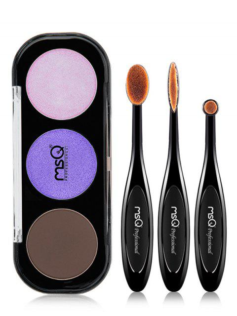 buy Eyeshadow Palette with Eyeshadow Brushes - #03  Mobile