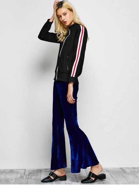 hot Velvet Flare Pants - BLUE 2XL Mobile