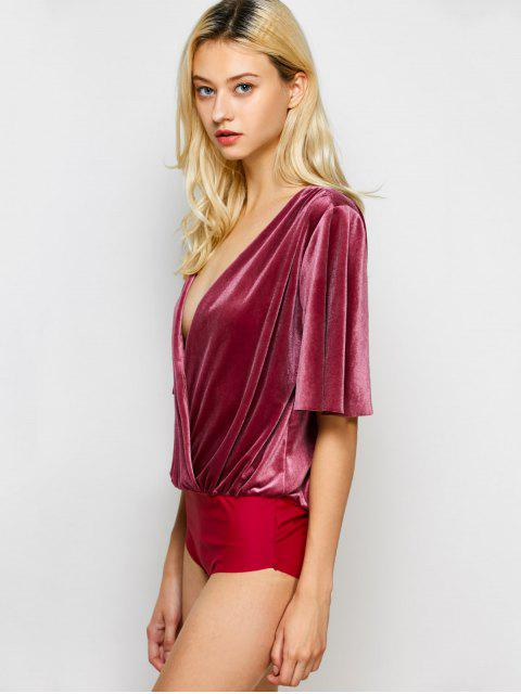 Body en velours - Rouge vineux  L Mobile