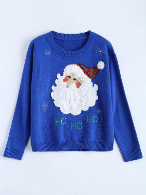 Santa Clause Christmas Sweater - Blue