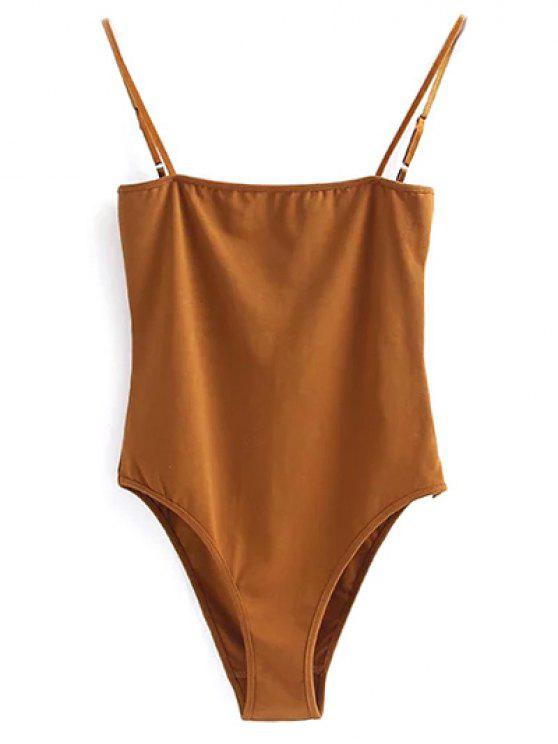 Cami Bodysuit - Golden Brown S
