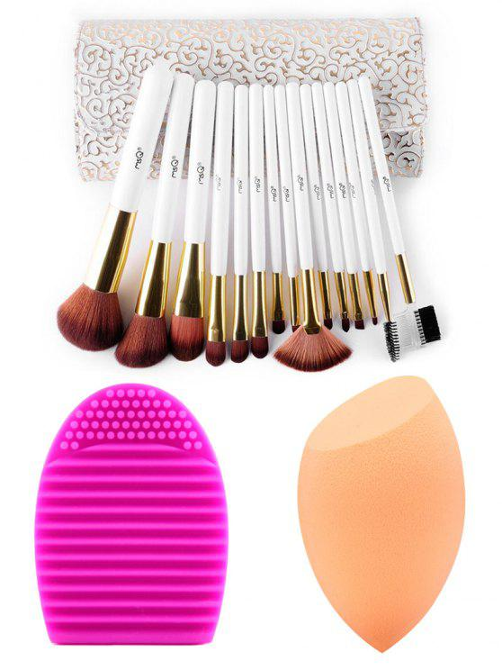 latest Makeup Brushes Kit + Makeup Sponge+ Brush Egg - COLORMIX