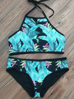 Hoja Modelada De Cuello Alto Set Bikini - Lago Azul S