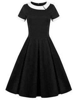 Retro Panel Ball Dress - Black M