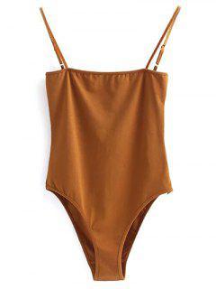 Camisole Bodysuit - Gold Brown S