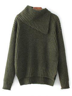 High-Low Chunky Sweater -