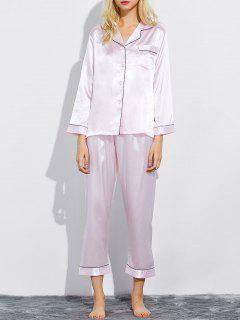 Fitting Silk Nightwear Pajamas - Shallow Pink M