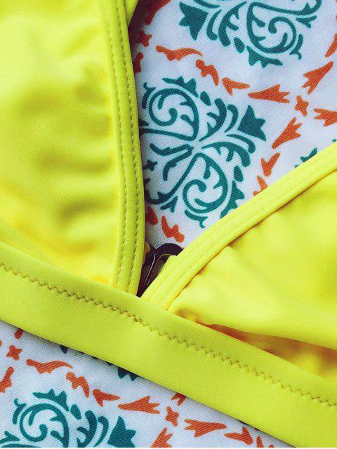 women Tiny Unlined String Bikini Swimwear - YELLOW M Mobile