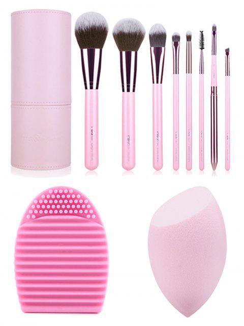 new Makeup Brushes Kit + Brush Egg + Beauty Blender - PINK  Mobile