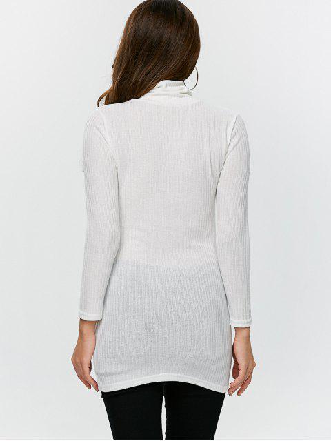 shop Fitted Turtleneck Jumper - WHITE XL Mobile