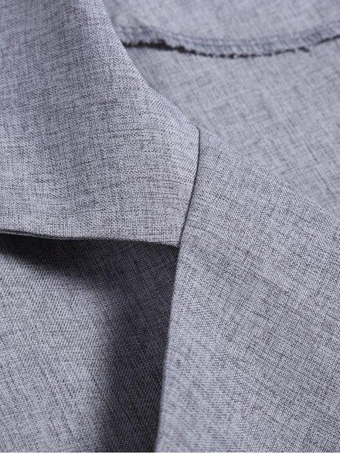 fashion One Button Plus Size Blazer - GRAY XL Mobile