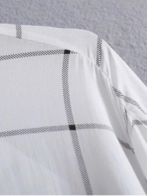latest One Breast Pocket Plaid Shirt - WHITE S Mobile